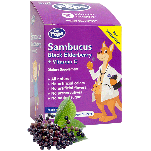 Dr Pops Sambucus Black Elderberry Vitamin C Lollipops